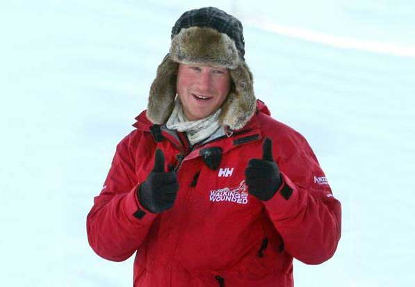 Prince Harry stranded by a polar storm during expedition