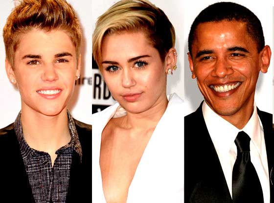 Obama, Miley Cyrus and Bieber Named Least Influential People