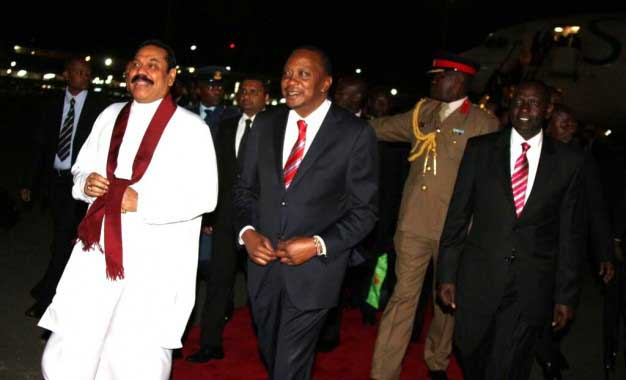 President Rajapaksa arrives in Kenya
