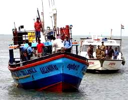 Six Lankan fishermen in Indian custody