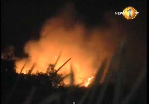 Forest fires raging in Katuwana, Matale areas