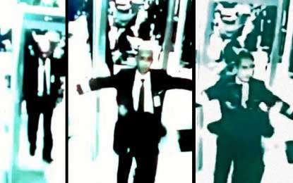 CCTV video of missing plane pilots being frisked by security released