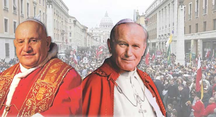 Vatican declares Popes John Paul II and John XXIII saints