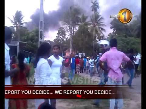 Tense situation in Aluthgama captured  (Video)