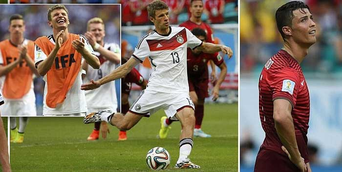 FIFA World Cup: Muller outguns Ronaldo as Germany rout Portugal