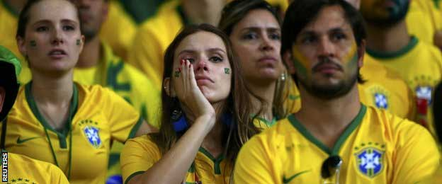 It was total despair for the Brazil fans inside Estadio Mineirao