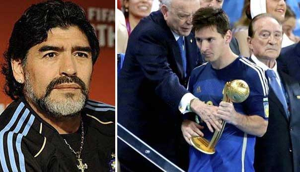 Maradona says Lionel Messi did not deserve to be named World Cup's best player