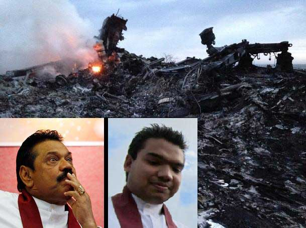 President Rajapaksa and Namal Rajapaksa respond to MH17 disaster