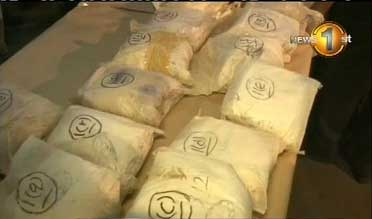 Stock of Heroin seized at Orugodawatta container yard