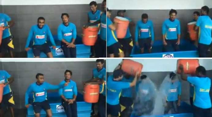 Mahela and Sangakkara take the Ice Bucket Challenge (Video)
