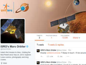 Mangalyaan Tweets Howdy as NASA's Curiosity says Namaste on Twitter