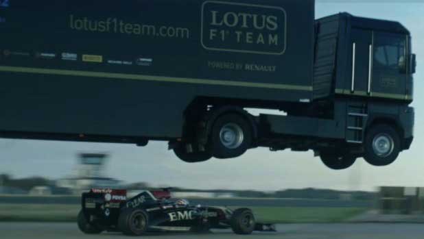Truck jumps over F1 car and sets Guinness record (Watch Video)