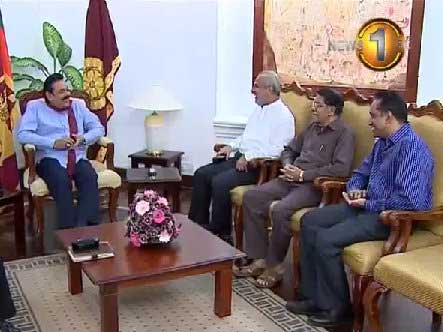 SLMC representatives meet with President Rajapaksa
