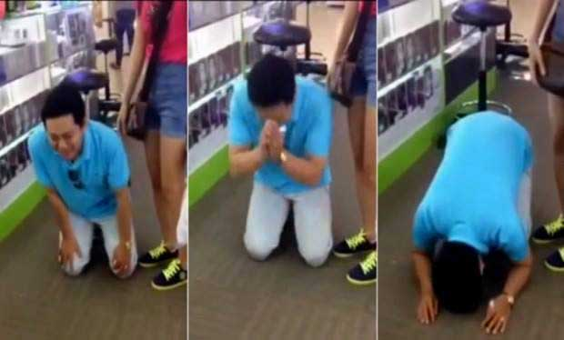 Man cries and begs for refund after buying iPhone 6 (Watch Report)