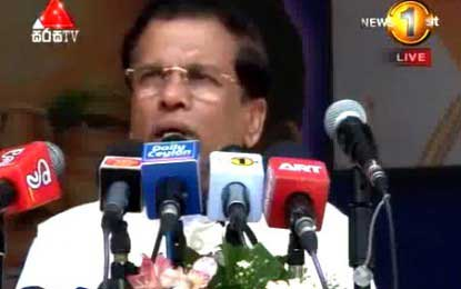 Maithripala Sirisena says female representation will be increased