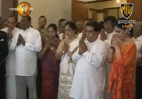 Opposition Leader Nimal Siripala de Silva assumes duties (Watch video)
