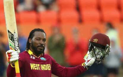 Chris Gayle scores his first double century