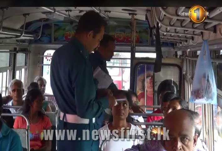 Private buses along Colombo-Kandy route subject to checks (Video)