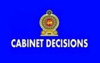 Latest decisions taken at by the Cabinet of Ministers at Tuesday's Meeting