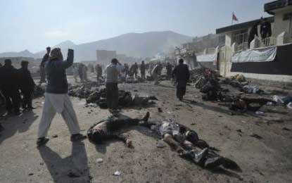 Suicide bomb blast kills 33 people in Afghanistan