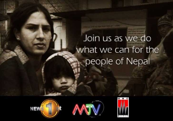 News 1st, MTV and MBC to reach out to the people of Nepal – special programme initiated