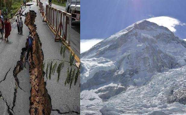 Earthquake shifts Kathmandu but Everest height unchanged