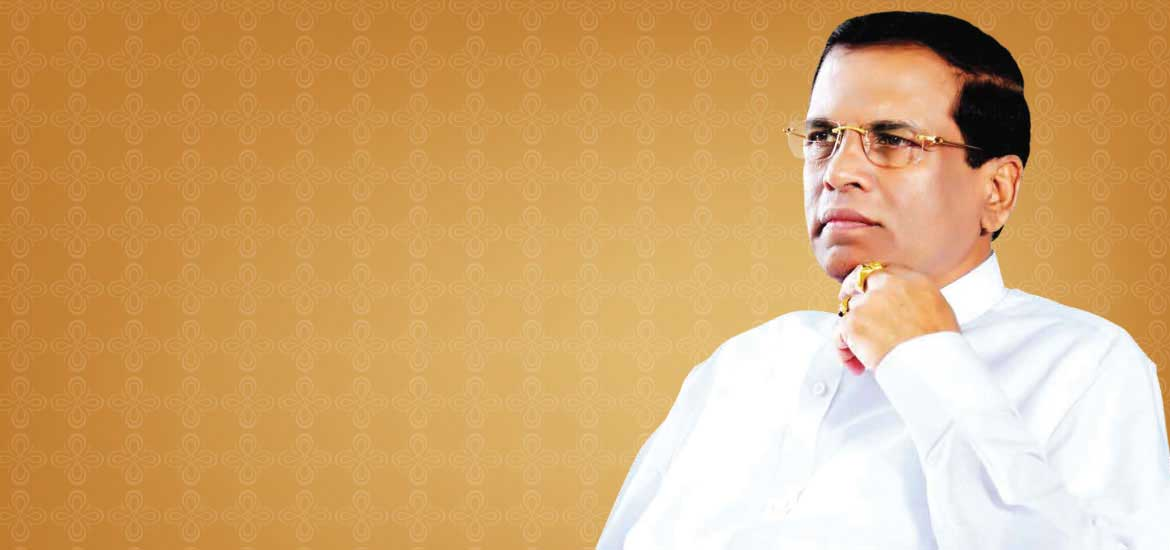 President Sirisena expresses condolences to earthquake victims in Nepal