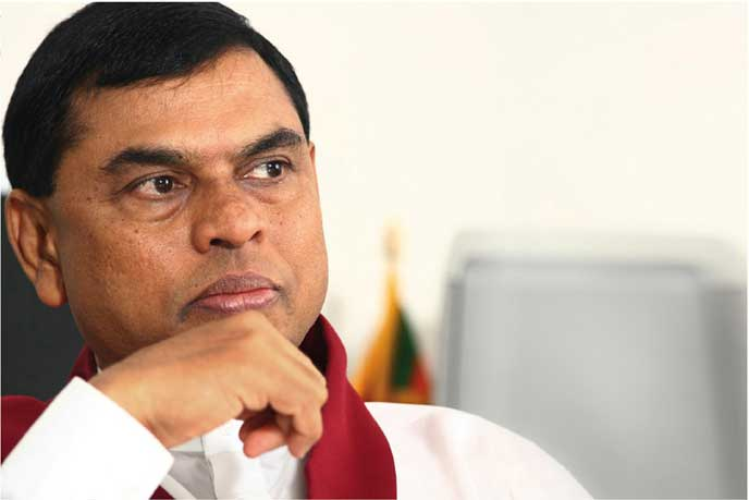 Former minister Basil Rajapaksa makes statement at FCID