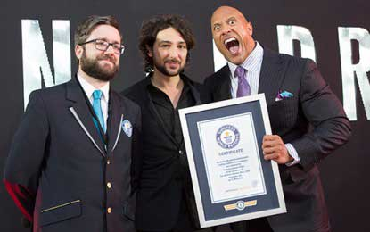 The Rock becomes king of selfies with Guinness world record (Watch Video)