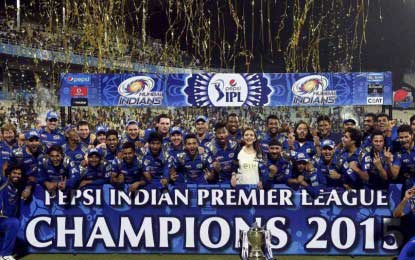 Mumbai Indians crowned IPL champions for second time