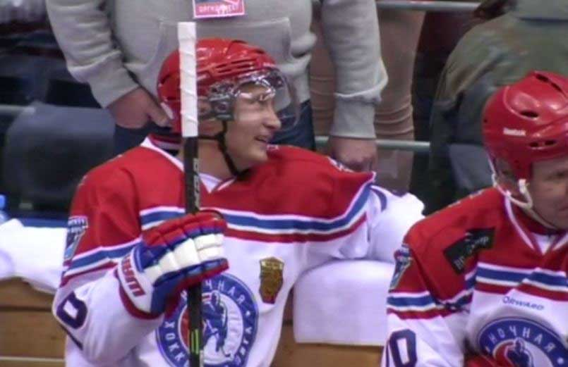 President Putin powers team to Ice Hockey victory (watch video)