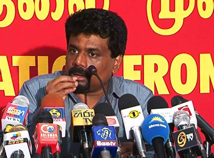 JVP leader Dissanayake comments on Rajapaksa contesting Aug. polls