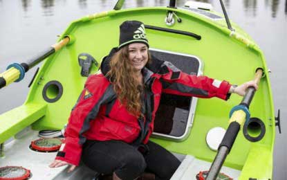 U.S. woman sets out to become first to row across Pacific Ocean alone