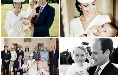 Princess Charlotte christening: Official images released