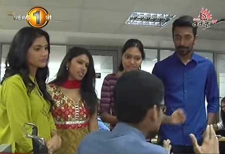 Shakthi Global Super Star finalists visit News 1st