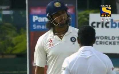 Tensions flare on day 4; Dammika Prasad and Sharma in a heated exchange of words?