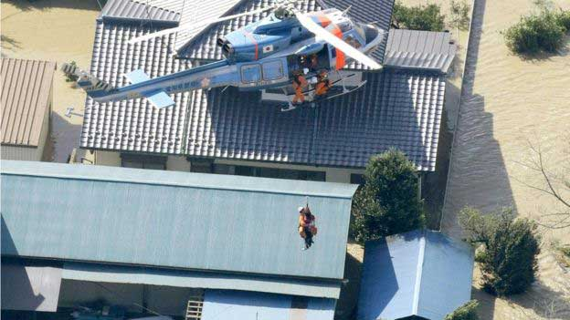 Japan floods: Rescue work continues after deadly disaster