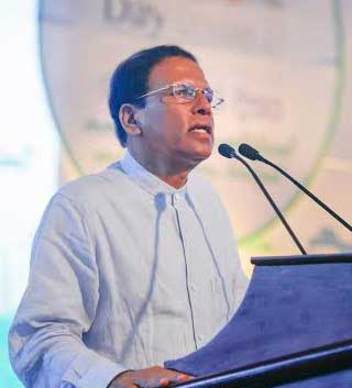 President Sirisena reiterates govt's commitment to alcohol prevention policies