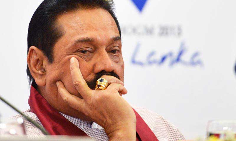 Mahinda Rajapaksa says he will get on stage at forthcoming rally