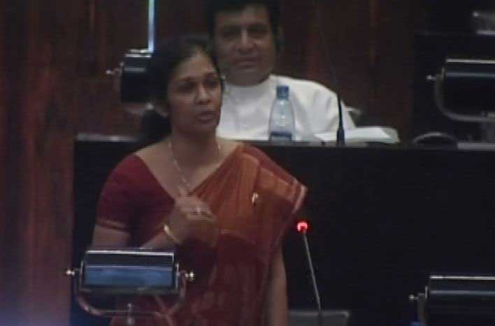 State Minister Vijayakala Maheswaran comments in parliament on husband's 'murder'