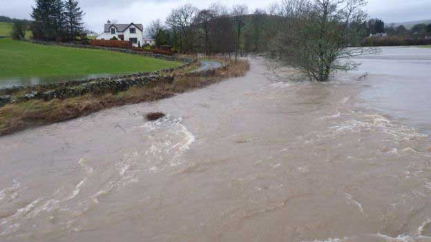 Homes evacuated and power cuts as Storm Frank hits UK