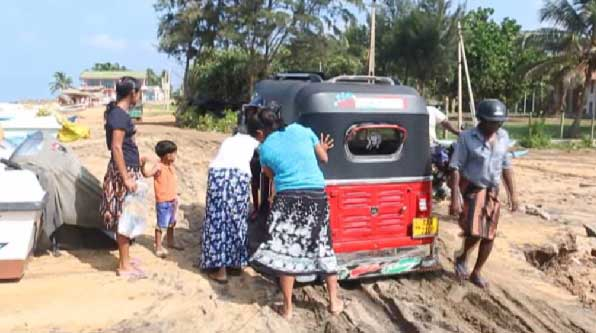 Severe erosion takes toll on Marawila coastal road