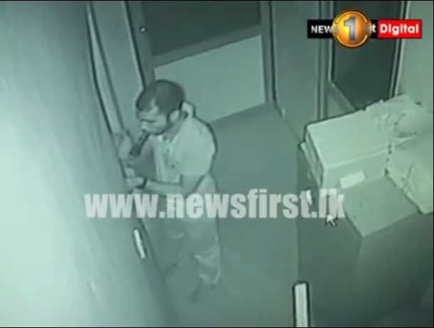 Kurunegala bank CCTV detects intruder