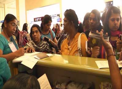 Over 100 SL domestic workers return – allegedly suffered abuse in Kuwait, Saudi, UAE