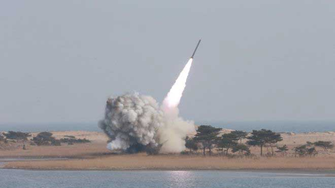 North Korea fires ballistic missile into sea