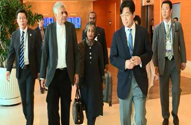 Premier Wickremesinghe in South Korea for official visit