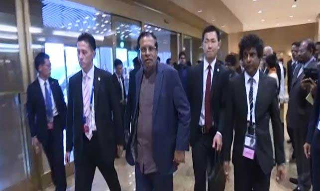 President Sirsena arrives in Japan for G7 Summit (Video)