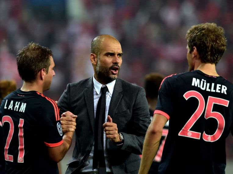 Guardiola finishes stint in Bundesliga with 3rd straight title win