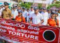 "President Sirisena joins march themed ""Stop Torture"""