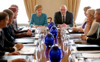 Scotland's First Minister Nicola Sturgeon says MSPs at Holyrood could veto Brexit